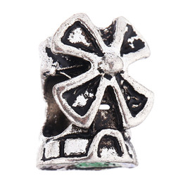 Gran cadena de cruz online-Granos flojos de la manera Joyería de plata DIY Gran agujero suelto Karma Bead With Big Cross aptos para collar de cadena de pulsera europea # 3