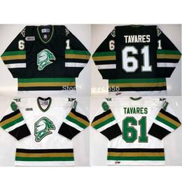 Camisetas de hockey femenino online-HOMBRE MUJER JOVEN 61 JOHN TAVARES jerseys JERSEYS DE CABALLEROS DE LONDRES JERSEYS de HOCKEY de Nueva York personalizados en casa y en negro a lo lejos CUALQUIER NOMBRE.