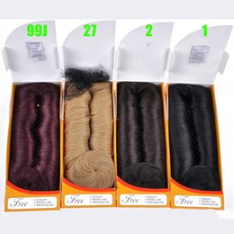 Wholesale 27 Pieces - Wholesale Factory Price Human Hair 28 Piece Short Hair Weave With 27# Blonde Red Brown Black Color For Black Women Free Shippment