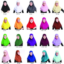Wholesale Cloth Material Wholesale - whosale muslim wares Crystal linen cloth material girl lady women bonnet Bandanas with cap and caps 20 solid pure color