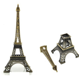 1 pz Nuovo grande formato 48 cm bronzo tono eiffel torre figurina imitazione antico modello casa decori regali romantici