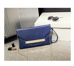 Wholesale Envelop Wallets - 5pcs 2016 New Fashion simple Women Clutch Bag Purse Lady Handbag envelop bag wallet shoulder bag by honestgirl09