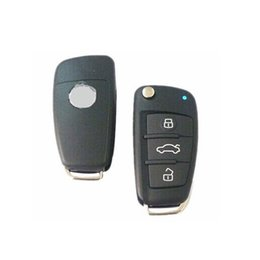 Wholesale Key Remote For Positron - XQautopart for Audi A6 style with HCS300 chip Old Brazil Positron Car Alarm Remote Key 433.92mhz BX019A 2pc lot