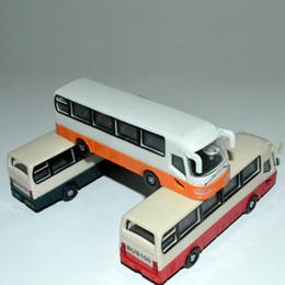 Wholesale Plastic School Bus Toy - 1 100 scale architecture school bus toy model bus car for ho scale train design layout
