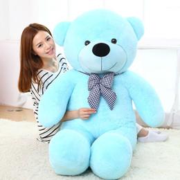 """Wholesale Teddy Bear 72 - New arrival 6.3 FEET TEDDY BEAR STUFFED LIGHT BROWN GIANT JUMBO 72"""" 160cm birthday gift purple 5 colour choose"""