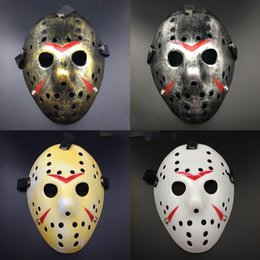Wholesale Wacky Halloween - Jason Mask Thicken Plastic Retro Style Halloween Masquerade Cosplay Horror Wacky Full Face Party Masks Home Decor 4 9gn F R