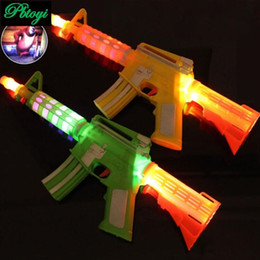 Wholesale Electric Toy Submachine Guns - Wholesale-New pattern music luminescence projection submachine gun voice toy gun electric toys
