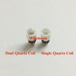 Wholesale Ego Dual Core - Wax Coil Dual Quartz Rod Coil For Glass Globe Atomizer Wax Vaporizer Ceramic Core E-Cigarette Replacement Coil Ego Clearance