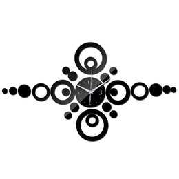 Wholesale luxury home decor wholesale - 2016 watch wall clock modern design luxury Acrylic mirror art 3d promotion home decor diy large clocks Living Room Free Shipping TY1961