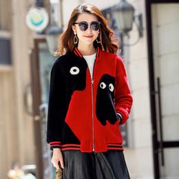 Wholesale Womens Fur Lined Winter Coats - shearling coats women 2016 fashion short contrast color womens winter coats ladies zipper outerwear coats free shipping