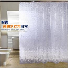 2019 rideaux blanc noir rouge EVA 180 cm * 200 cm 3d nouvelle teinte de bain matériaux environnementaux étanche à la moisissure bain rideau de douche shiping gratuit