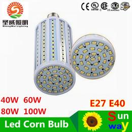 Wholesale High Power E27 21w - High Power SMD5730 LED Lamp E27 110V 220V 20W 25W 30W 40W 60W 80W LED Corn lights Bulb LED Lighting B22 E40 Spotlight