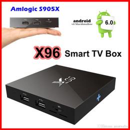 Wholesale Original Set Top Box - Amlogic S905X 64bits Android 6.0 Marshmallow TV BOX Original X96 Cortex A53 Quad Core 1G+8G 4K Set Top Box VS MXQ PRO