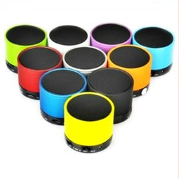 Wholesale Portable Metal Radio Box - Bluetooth Speaker Outdoor Speakers Handfree Mic Stereo Portable Speakers TF Card Call Function sound Retail Box