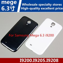 Wholesale Cell Phone Cases Abs - For Samsung Mega 6.3 i9200 Cell Phone Back Cover I9205 Battery Back Cover I9208 Rear Case Back Case