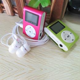 2015 Nueva pantalla LCD Metal Mini Clip Reproductor de MP3 + Auricular + Cable USB con ranura Micro TF / SD Reproductor de música MP3 portátil desde fabricantes