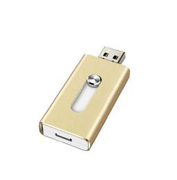 Wholesale 128gb Usb Flash Storage - USB Flash Drive 16GB OTG Pen Drive External Storage Memory Stick 128gb 32gb 64gb Pendrive USB 2.0 U Disk