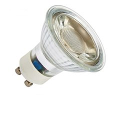 Wholesale Warm White Mr16 Halogen - 5W DIMMABLE GU10 RA80 lamp cup can replace halogen lamp quartz glass GU10 COB lamp cup