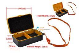 Wholesale Air Dagger - UGO-C-A02 Small Size 2 Layers Red Earth Worm Box Lugworm Box Air Ventilat Moisture retaining Live Bait Fishing Worm Keeper