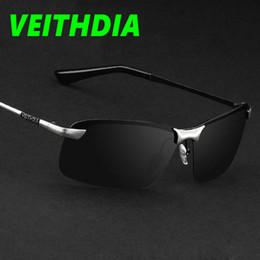 Wholesale Drive 64 - VEITHDIA Brand Pilot Fishing Polarized Sunglasses Men's Glasses Driving Outdoor Sport Summer 2017 Sun Glasses 64 MM UV400 with Original Box