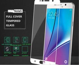 Rasguño de pantalla galaxy nota online-Original 0.26mm 9H 2.5D Protector de pantalla de cristal templado para Samsung Galaxy Note 5 Scratch Proof Glass Film Venta al por menor y al por mayor