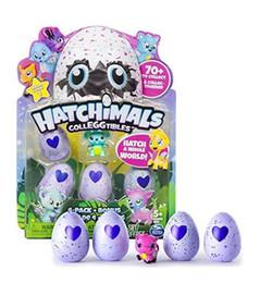 Wholesale Plush Toy Pack - Multi color 4 pieces Hatchimals Hatching Eggs Interactive Cute toy Colleggtibles Mini 4 Pack Bonus Hatchimals EGG for kids Season 1