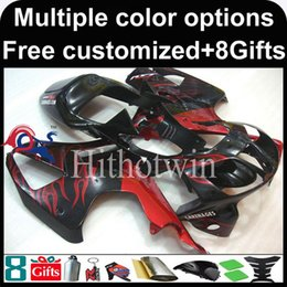 Wholesale Honda Rc51 Motorcycle - 23colors+8Gifts red black Boda kit motorcycle cowl for HONDA RC51 VTR1000SP1 2000-2006 VTR1000SP1 00 06 ABS Plastic Fairing