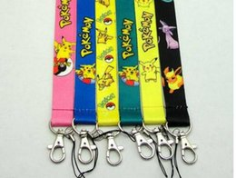 Wholesale Mobile Phone Charm Keychain - 2016 Pokémon Mobile Cell Phone Lanyard Neck Straps Colorful Poke Ball Mobile Phone Lanyard Keychain Straps Drives ID Cards hanging Charms