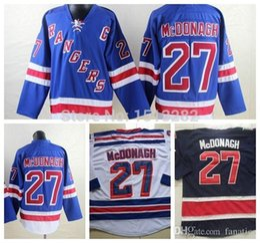 Ryan McDonagh Jersey Cheap New York Rangers Jersey McDonagh 85th Blue White  NY Rangers  27 Authentic Hockey Jerseys Stitched 65de255ef