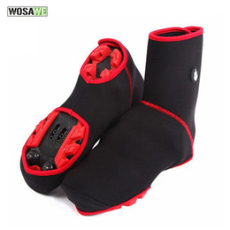 Wholesale Bike Shoe Size - New Cycling Outdoor Sports Wear Bike Shoe Toe Whole Cover Bicycle Cycle Protector Boot Covers Black Red 1 Pair H2062