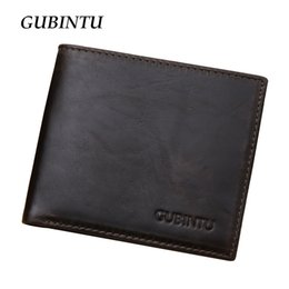 Wholesale Photo Blocks - Wholesale- RFID Blocking Wallet New arrival Fashion Men Genuine Leather wallet credit card Protector Shields Electronic Pick-Pocketing