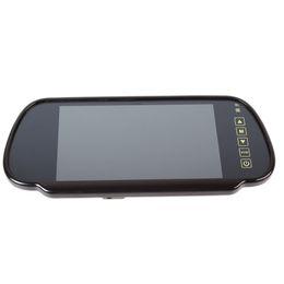 2019 camara coche toyota rav4 7 pulgadas TFT LCD pantalla en color de la pantalla de control remoto del espejo del coche Monitor para cámara retrovisora VCR