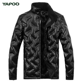 Wholesale Down Coat Men S Lightweight - Wholesale- TAPOO Fashion Leisure Jacket Winter Men Coat Warm Down Jacket Parka Men Jackets Men Lightweight High Density Fiber