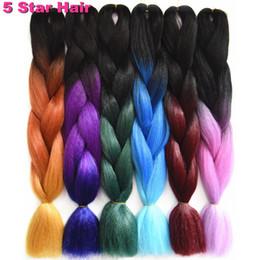 Wholesale Xpression Braiding Hair Wholesale - Kanekalon Synthetic Braiding Hair 24inch 100g Ombre three tone Xpression Jumbo Crochet Braids Twist hair extensions