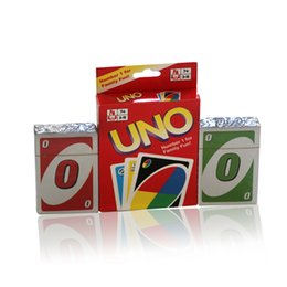 Wholesale English Manual - UNO Card Standard Edition UNO Playing Cards 5.6*8.8CM Family Fun Playing Cards Gift Box English Manual 2507017