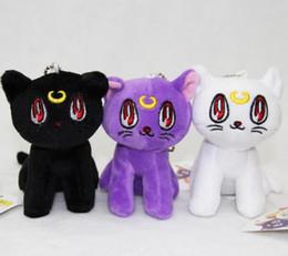 Wholesale Luna Plush - 2016 Anime Toy Free Shipping Sale 10cm Pretty Guardian Sailor Moon Stuffed Animals Plush Toys Dolls for Kids Luna Artie Smith Diana Xmas