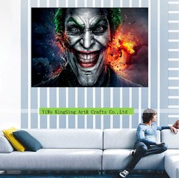Wholesale Funny Pictures Cartoon - Fashion Canvas Painting Funny cartoon clown Pictures paint On Canvas Large 5 Piece Wall Pictures For kids Room