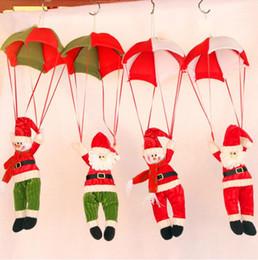 Wholesale Cute Snowman Plush - Christmas Pendant Cute Santa Claus Door Hanging Doll Pendant Strap Toy Christmas Children Toys Snowman Santa Parachute