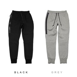 Wholesale Xl Tech - Hot Tech Fleece Sport long Zipper pocket Sport pants casual pants Grey Black S-XL Man's Casual Joggers