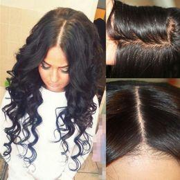 Wholesale Beautiful Chinese Women - Beautiful Wavy 4x4 silk base wigs silk top full lace wig glueless silk top lace front wigs brazilian human hair for black women