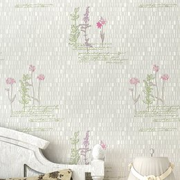 Wholesale Paper Flocked Flowers - 3D Embossed Wall PaperRustic Floral Non-Woven Wall Paper for Walls,Pastorales Wallpapers,3D flower Wallpaper,papel de parede para sala