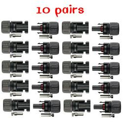 Wholesale Connector Mc4 - 10Pairs x MC4 Connector male and female, MC4 Solar Panel Connector 30A 1000V for PV cable 2.5 4 6mm solar panel connect