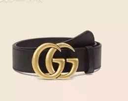 Wholesale European Size 46 - High quality double G buckle leather designer belts European style brand belt casual men belt with small box
