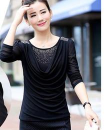 Wholesale Dress Shirt 22 - Middle-aged woman mother 30-35-40-45-50 years old women's summer autumn female T-shirt Long Sleeve Shirt Dress 22