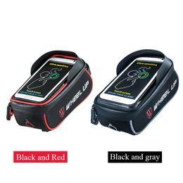 Wholesale Bag Bike Rainproof - Rainproof Bicycle Front Tube Frame Bag MTB Bike Touchscreen Phone Bags Waterproof GPS Pouch Cycling Accessories 2016