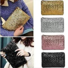 2019 bolsa de mensajero brillo 9 colores Nuevo Bolsos Bolsas de almacenamiento Bolsas de mensajero Bolsas Femininas Dazzling Sequin Glitter bolso del partido de noche CCA7087 50pcs bolsa de mensajero brillo baratos