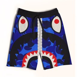 Wholesale String Zip - 2 Colors Real USA size Blue Monster sharp Zip Up 3D Sublimation print custom made men fifth & seventh legnth shorts with string Plus Size
