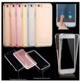 Wholesale Cheap Gold Iphone 5s - Cheap 360 Degree Full Body Case Front Back Cover Soft TPU Touch Clear Protector for iPhone 6s 6plus 5s SE Samsung Galaxy S7 S6 Edge Plus DHL