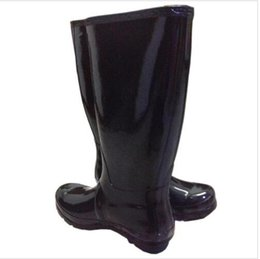 Wholesale Tall High Heel Waterproof Boots - NEW Women RAINBOOTS fashion Knee-high tall rain boots waterproof welly boots Rubber rainboots water shoes rainshoes 11 colors @678
