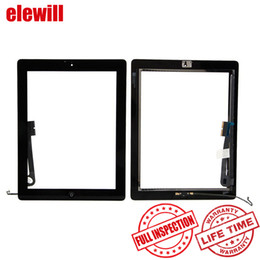 Wholesale Button Gen - Wholesale For iPad 4 4th Gen Touch Screen Glass Digitizer Replacements & Home Button & Adhesive Pre-assembly with Free DHL Shipping